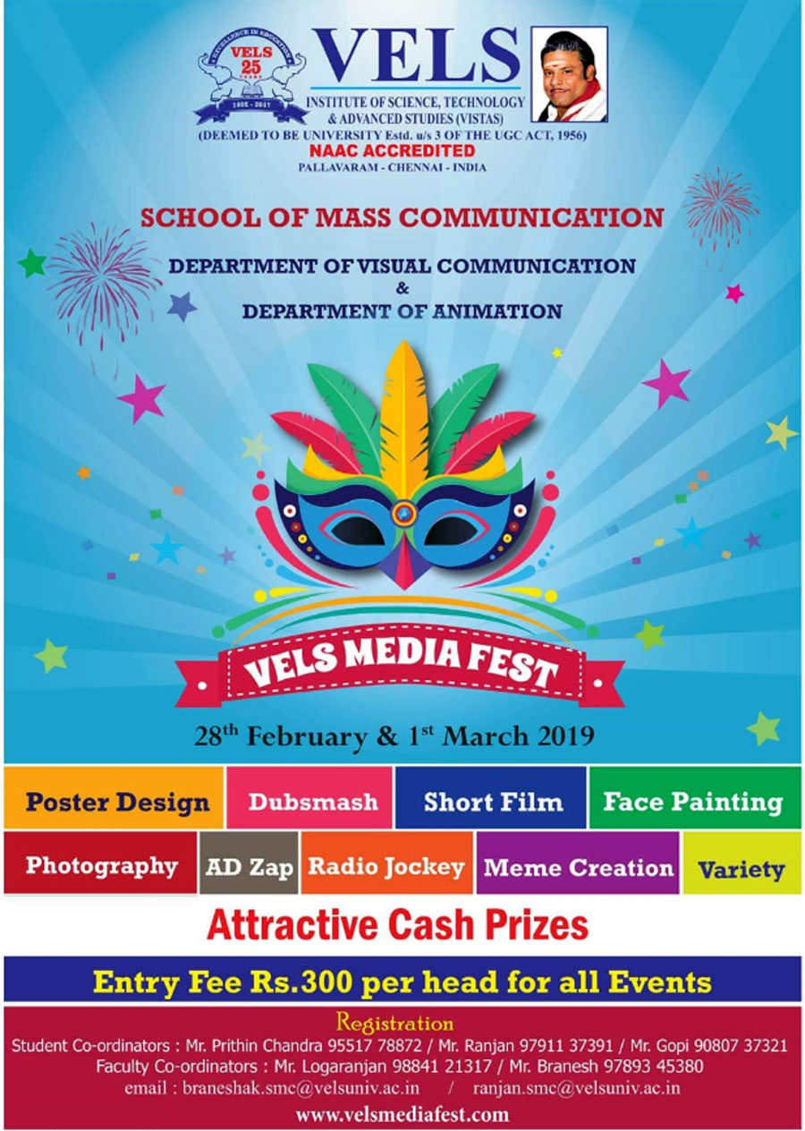 Groovy Latest News Events From Vels University Chennai India Complete Home Design Collection Epsylindsey Bellcom